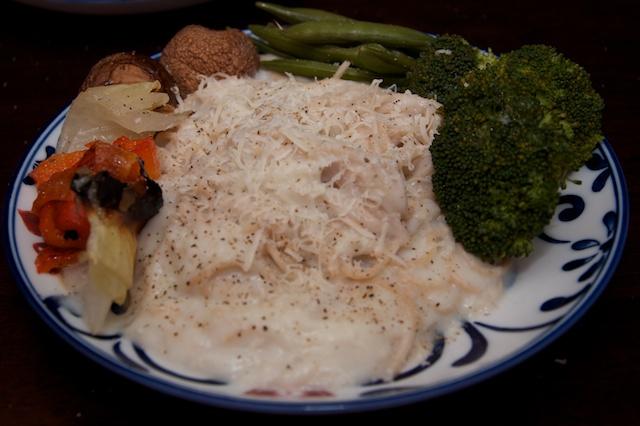 Cauliflower Alfredo with Vegetables