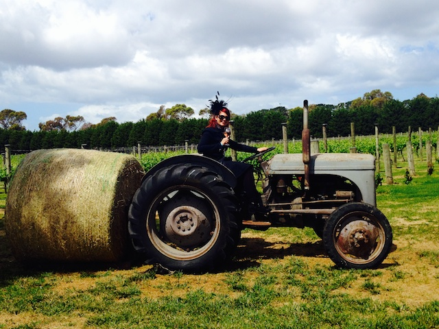 Heather on Tractor