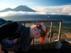 Heather on Mt Batur