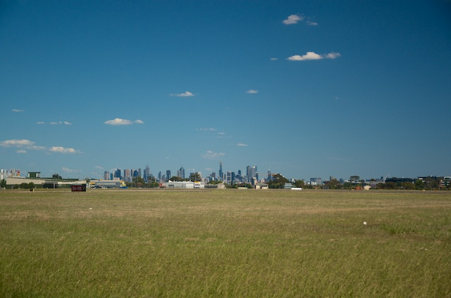 Melbourne from Essendon Fields